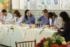 JUSTIN CHAMBERS, SARAH DREW, SANDRA OH, ELLEN POMPEO, CHYLER LEIGH