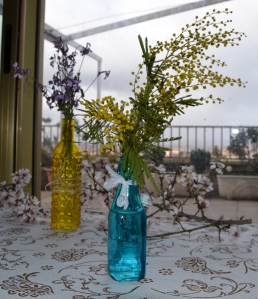 botellas flores
