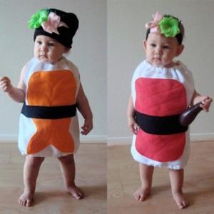 disfraz sushi - dos ninas