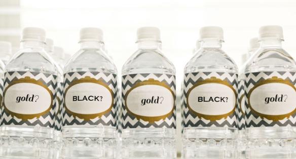 babyshower negro y dorado 4