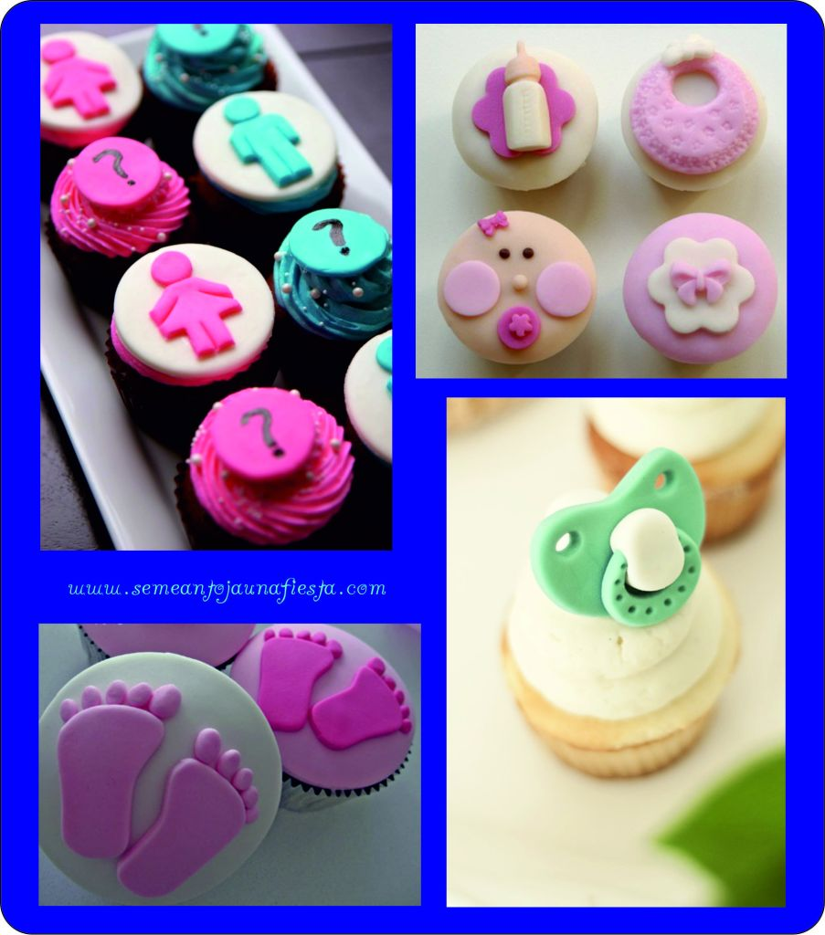 cupcakes babyshower rosas y azules
