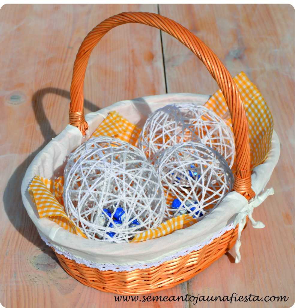 huevos de pascua - manualidades - cesta