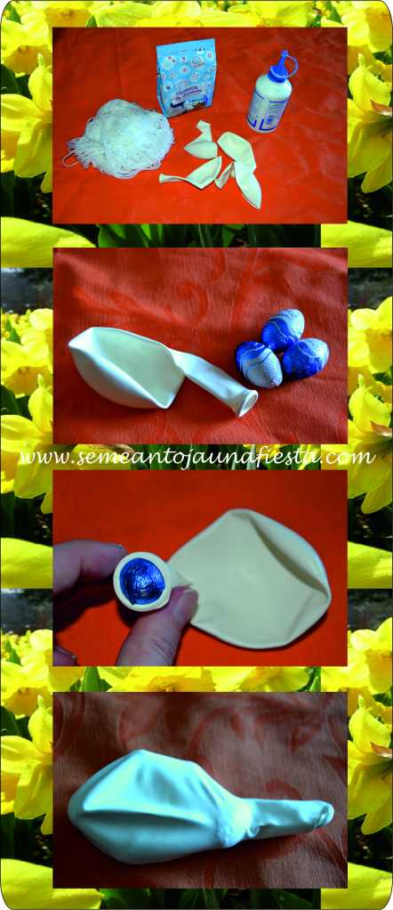 huevos de pascua - manualidades - paso 1