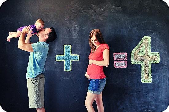 anunciar embarazo - 2 mas 1 son 4