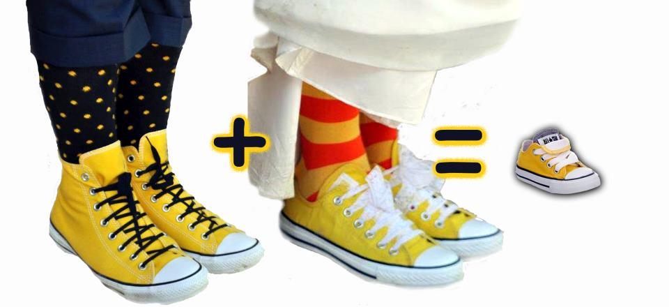 converse bebe amarillas