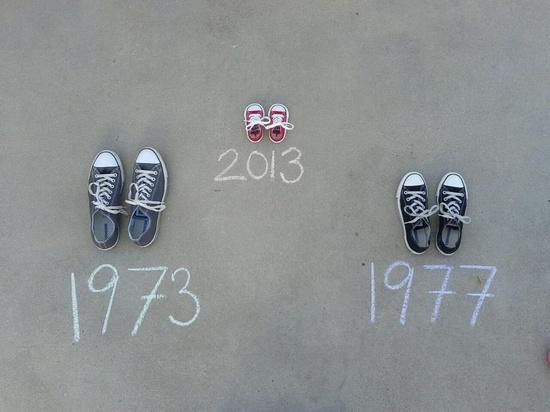 anunciar embarazo - zapatillas y fechas