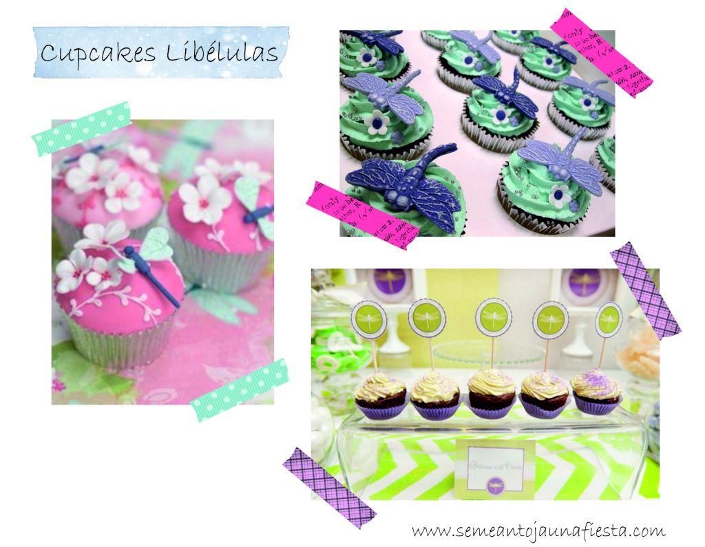 baby shower libelula cupcakes