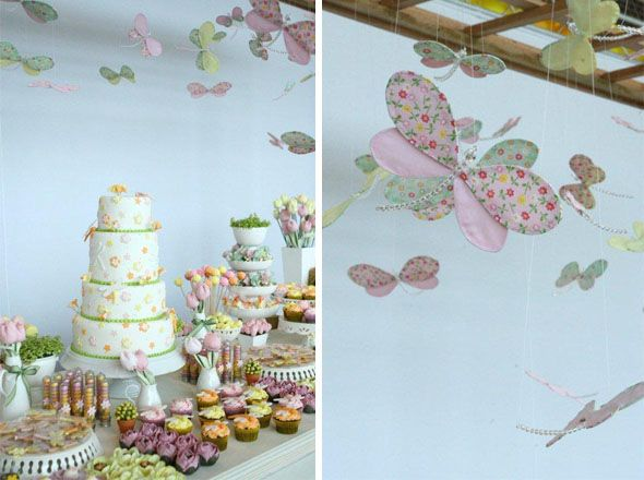 baby shower libelula deco techo