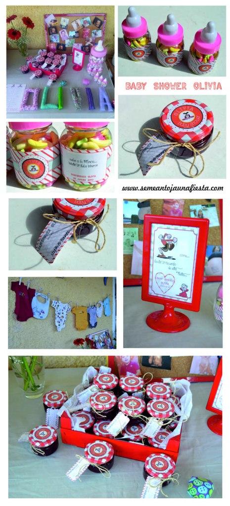 babyshower Olivia - detalles regalos