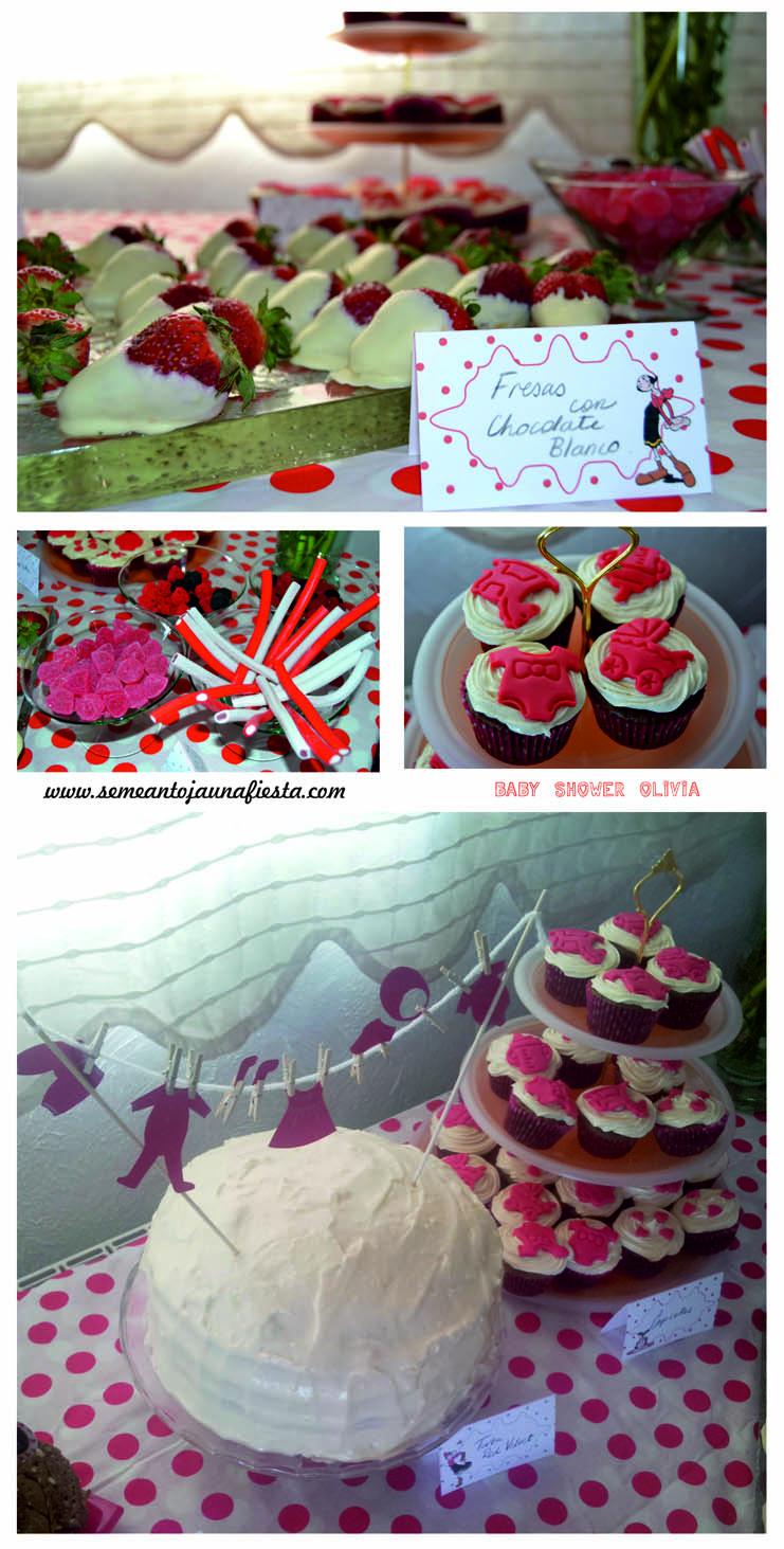 Dulce baby shower decoracion con pompones de papel mejor for Decoracion mesas dulces