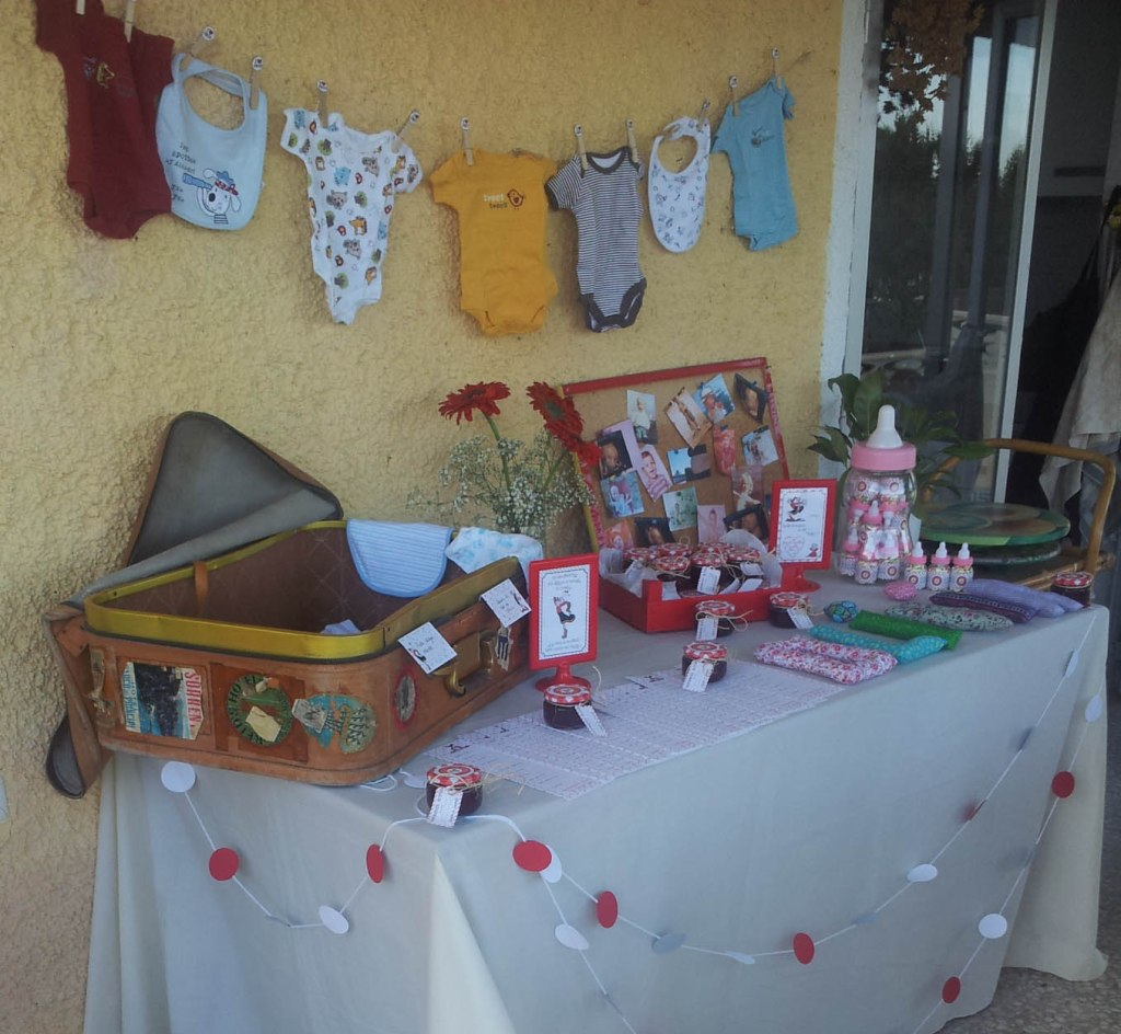 babyshower Olivia - mesa regalos