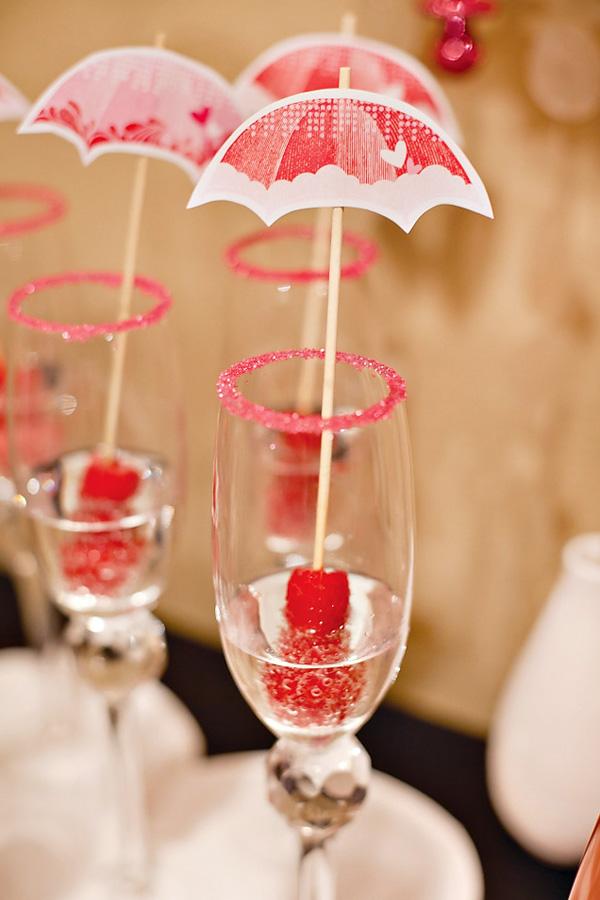 babyshower rosa bebidas