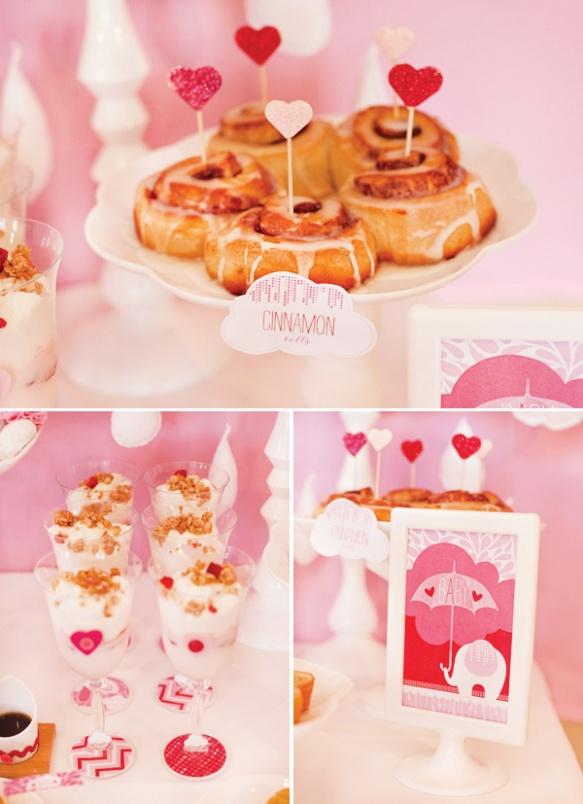 babyshower rosa detalles comida