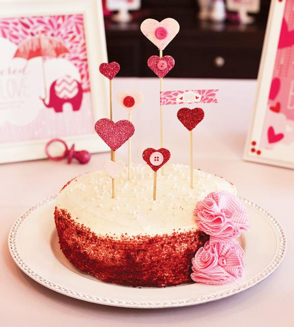 babyshower rosa tarta