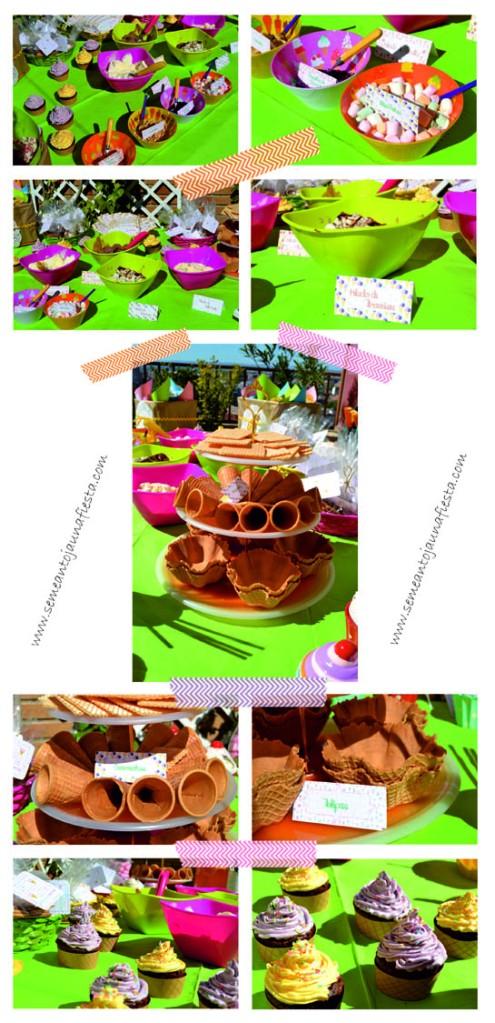 babyshower helados - helados y cupcakes