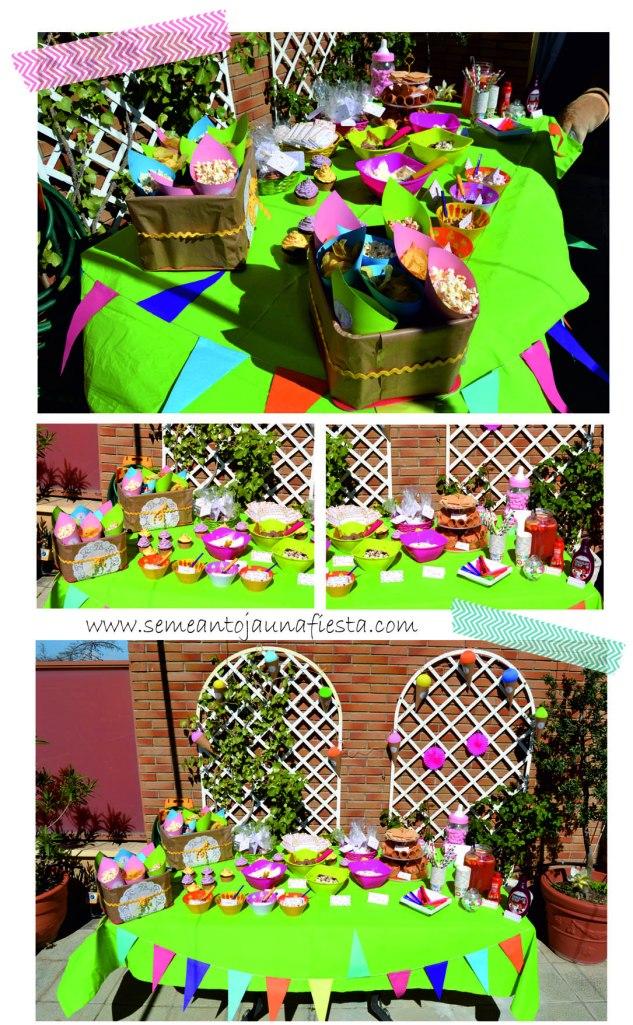 babyshower helados - mesa completa