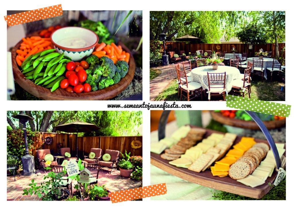 babyshower pajaritos - aperitivos y terraza