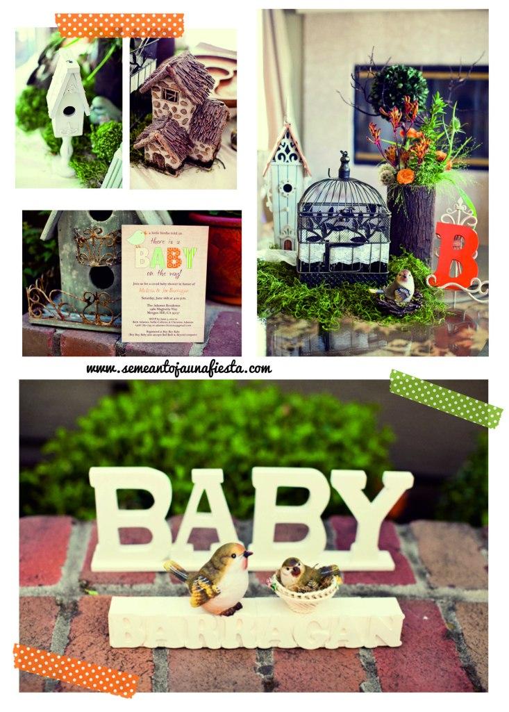 babyshower pajaritos - entrada y detalles