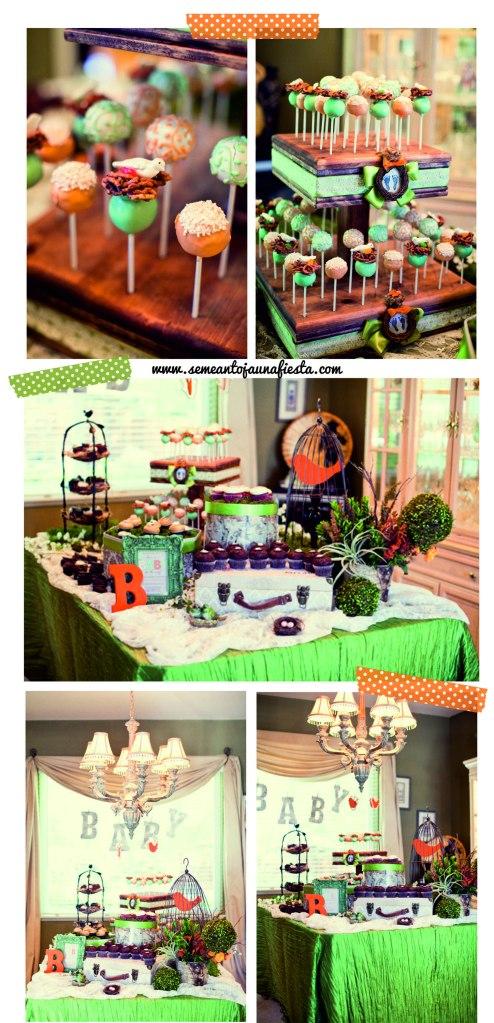 babyshower pajaritos - mesa dulces