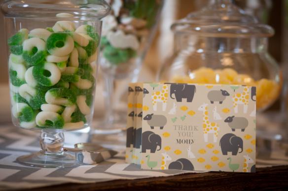 babyshower verde mint - dulces agradecimienos