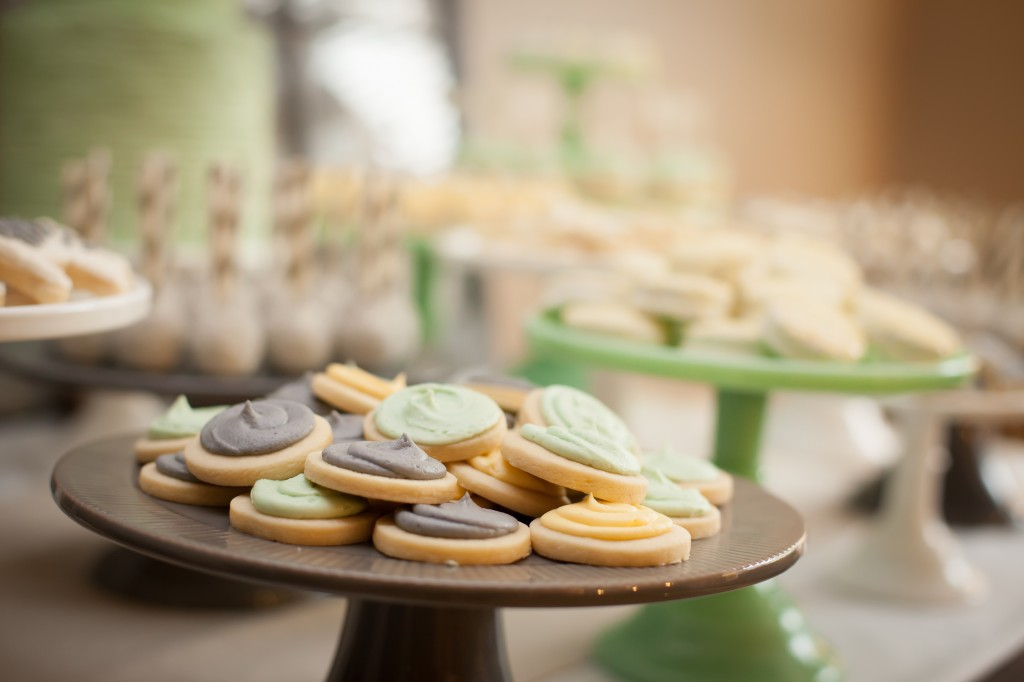 babyshower verde mint - galletas