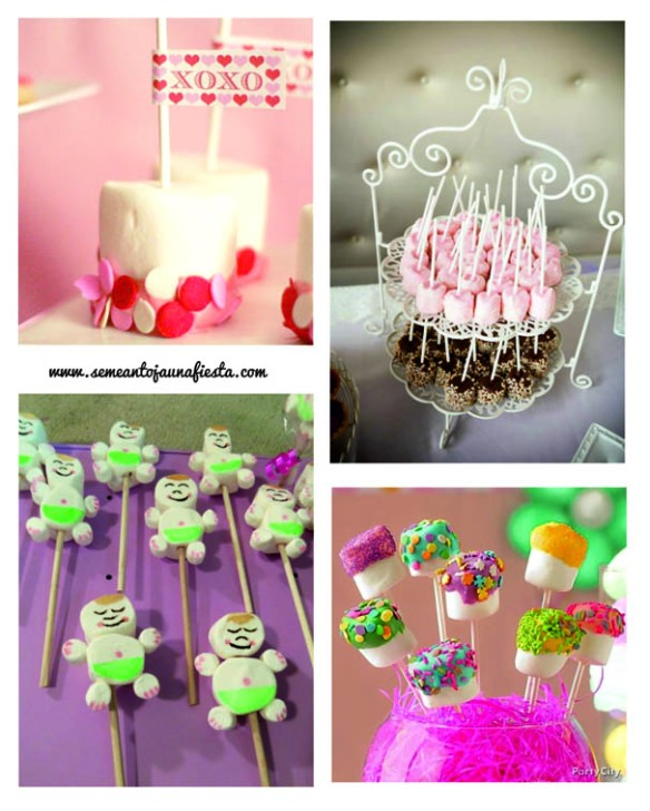 marshmallow pops babyshower