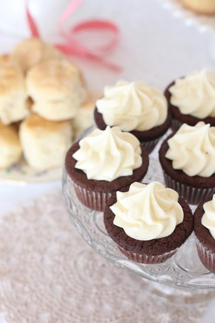 babyshower sencillo - cupcakes