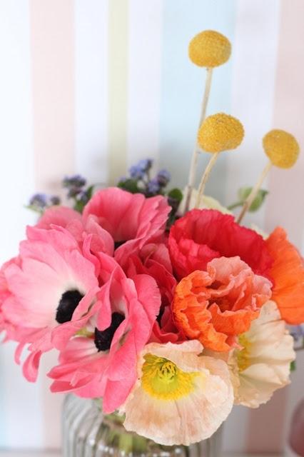 babyshower sencillo - flores