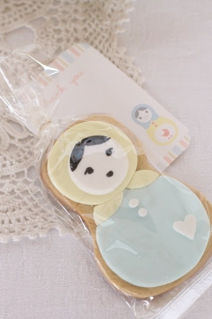 babyshower sencillo - galleta matrioskas