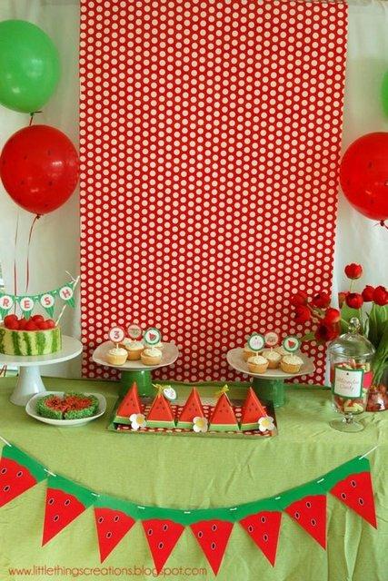 sandia - mesa decoracion
