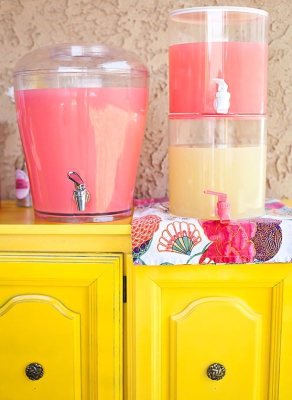 Fiesta pink lemonade - limonada rosa - dispensador