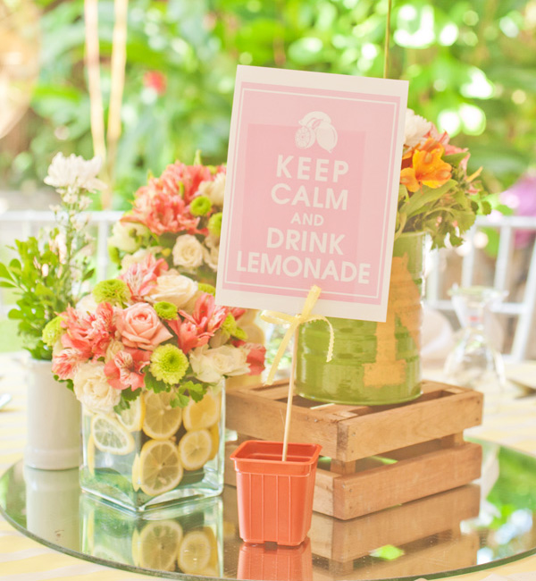 Fiesta pink lemonade - limonada rosa - keep calm