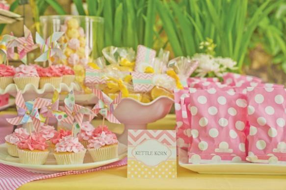 Fiesta pink lemonade - limonada rosa - lunares y chevron