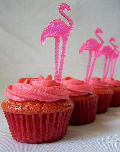 fiesta flamenco rosa - cupcakes