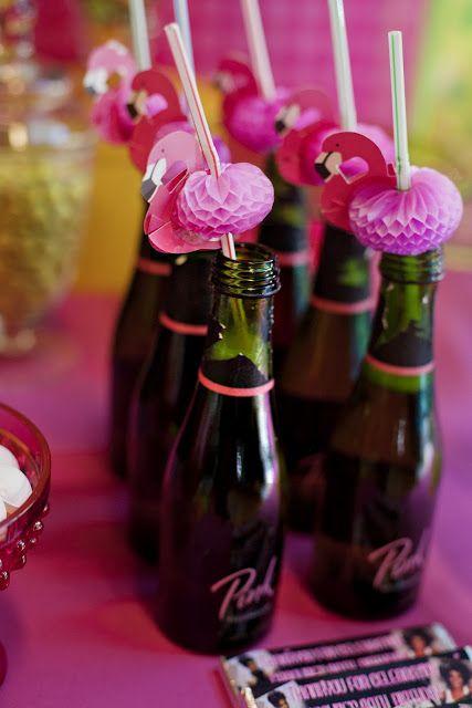 fiesta flamenco rosa - pajitas
