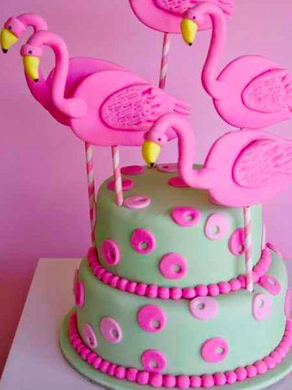 fiesta flamenco rosa - tarta