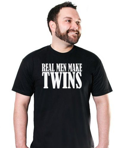 camiseta hombre - los hombres de verdad tienen gemelos