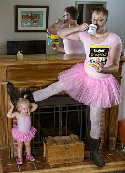 el mejor padre del mundo - estiramientos ballet