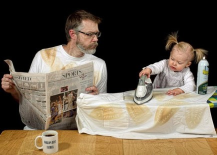 el mejor padre del mundo - planchando