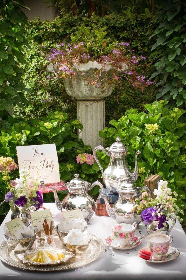 babyshower tea party - mesa de te