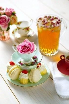 babyshower tea party - te frio y pastas